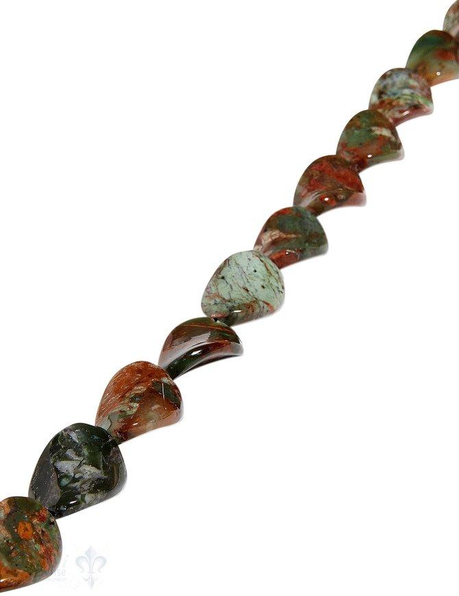 afrik.Opal Strang grün-braun poliert Oval gedreht 16x20 mm AA Opalgestein