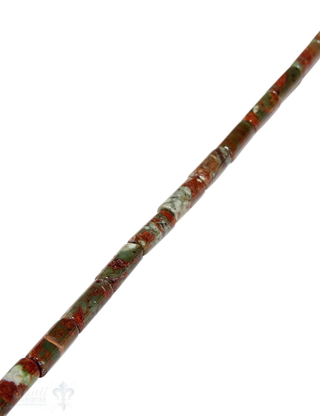 afrik.Opal Strang grün-braun poliert Walzen