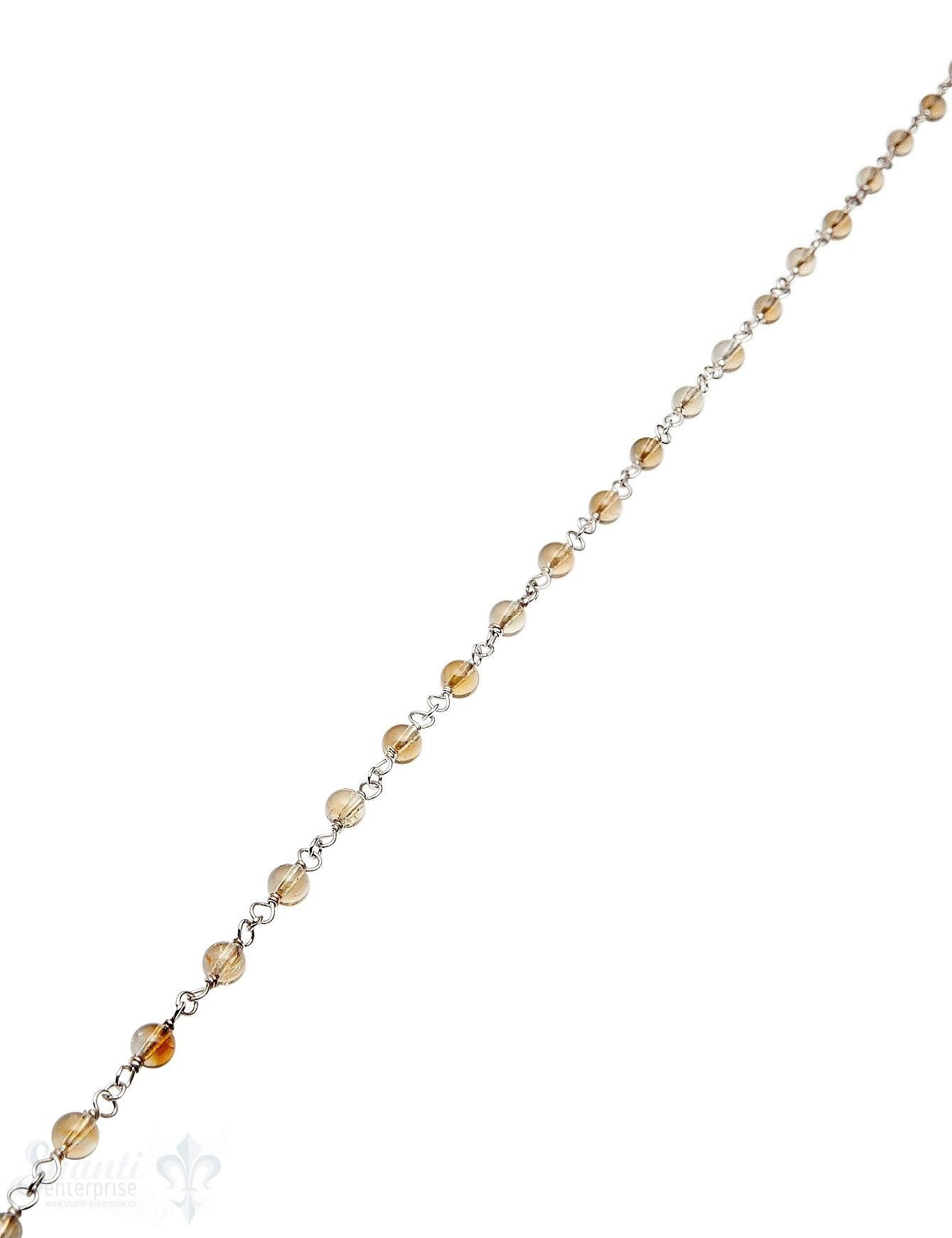 Rosenkranzkette Zitrin 4 mm rund poliert