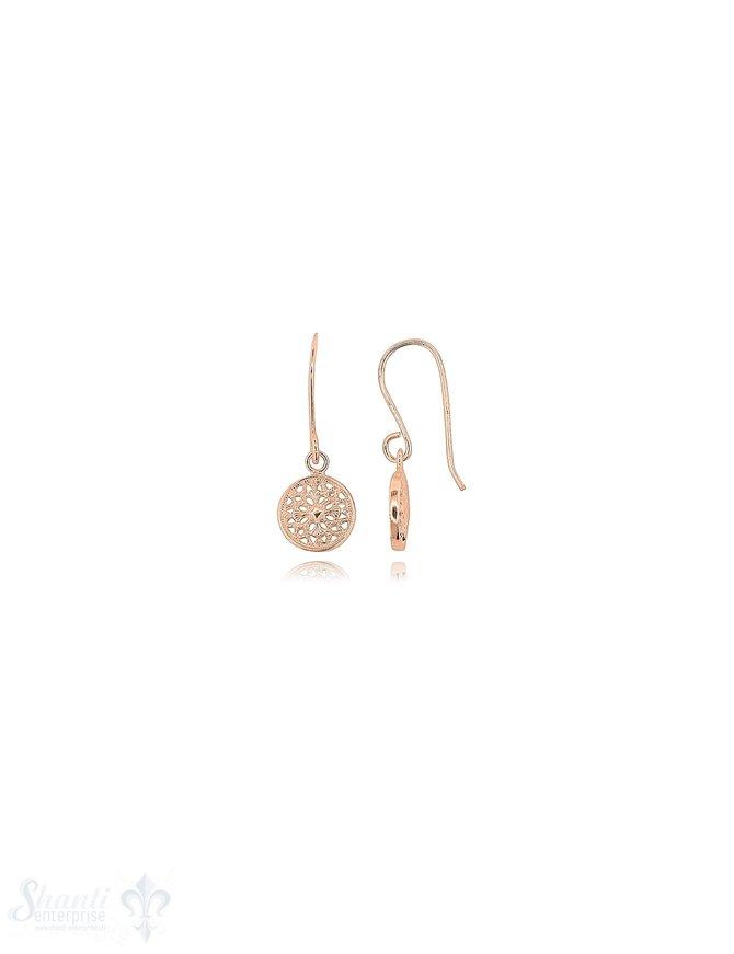 Amulett Ohrhänger 9 mm rund Silber 925 mit Bügel