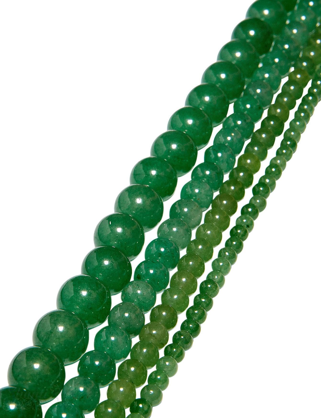 Aventurin Strang intensives grün poliert Kugeln