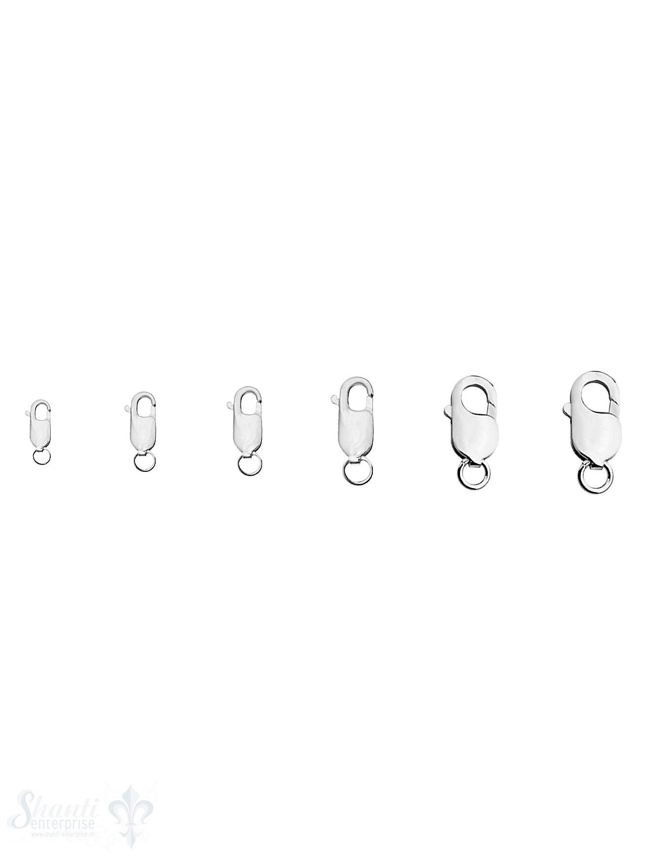 Karabiner Silber 925  mit Öse