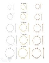 Creolen Ohrhänger mit Haken 0.8 mm Draht- Dicke zum Einhängen individueller Anhänger Silber 925 ec