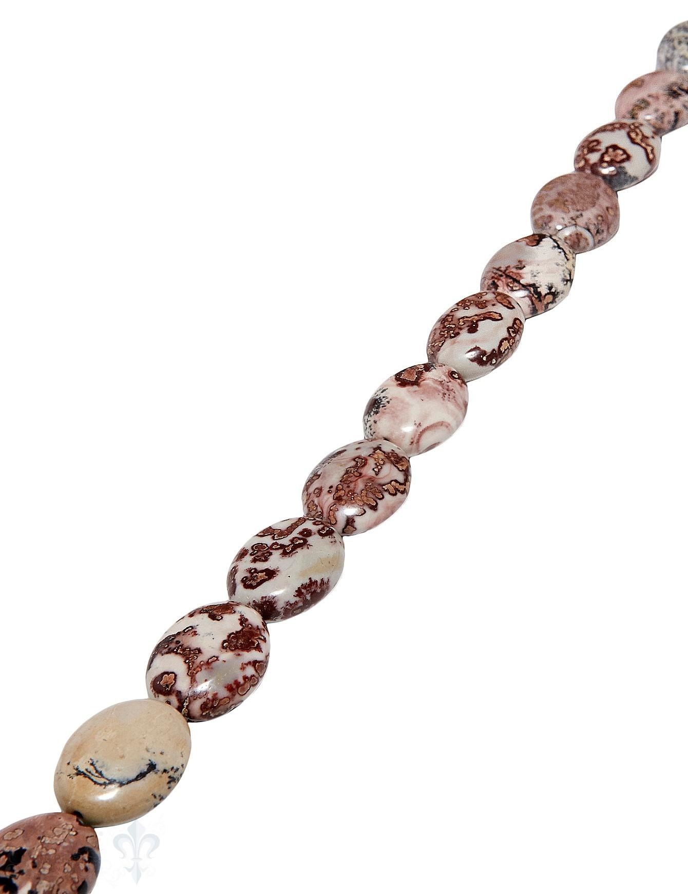 Jaspis Strang rosa/grau gefleckt 20x16 mm oval pol