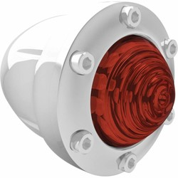 Tracker Knipperlicht Achter Chrome/Rood