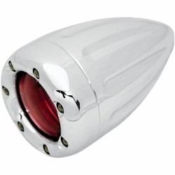 Turn Signals Deep Cut With Fire Ring Chrome/Red