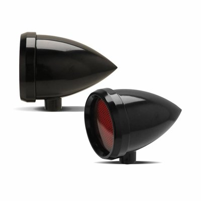Roland Sands Marker Light Speeding Bullet Zwart Rood