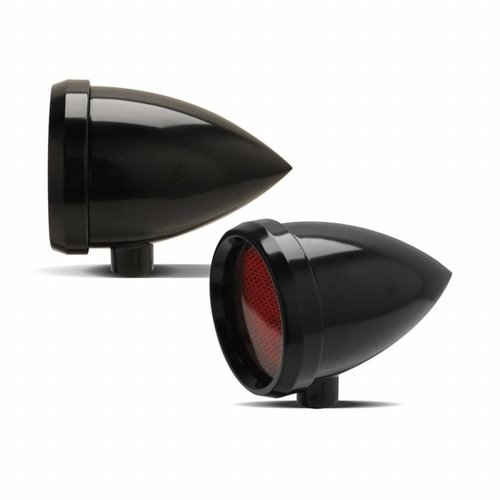 Arlen Ness Marker Light Speeding Bullet Zwart Rood