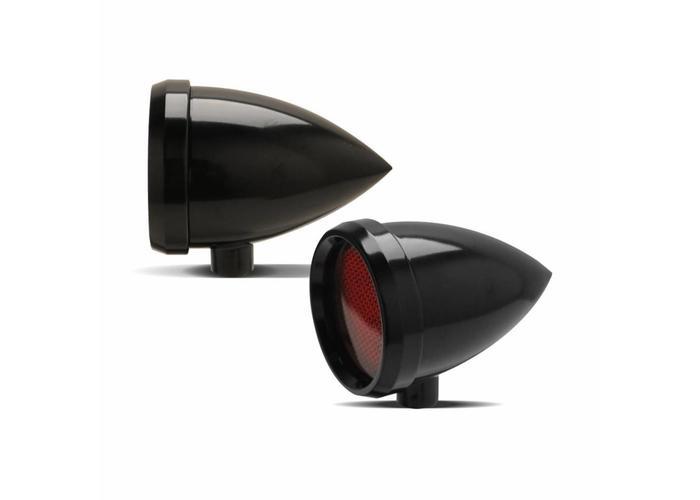 Roland Sands Marker Light Speeding Bullet Zwart Rood
