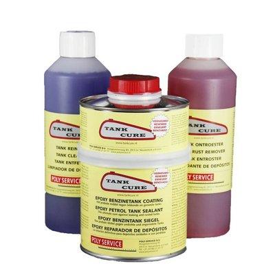 Tank Cure Kit de traitement pour réservoir de carburant (antirouille / nettoyant / scellant)