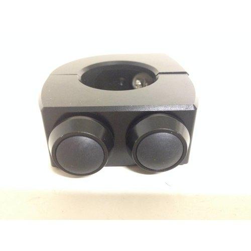 """Motogadget m-Switch 2 knops 22MM of 7/8"""" (zwart)"""