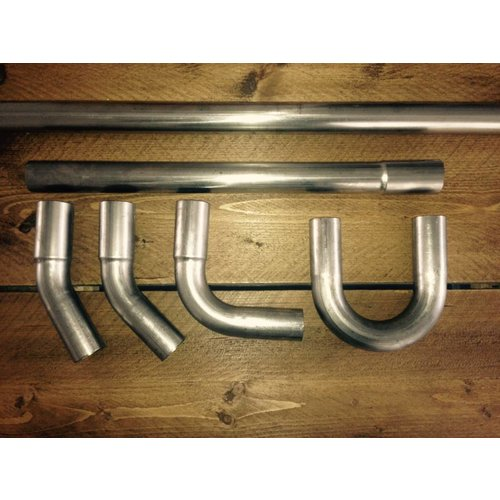38MM DIY Uitlaat Buizen Kit RVS (Roestvast Staal)