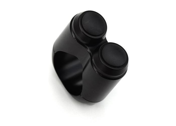 """Motone 2 Button Schakelaar 22MM of 7/8"""" Zwart"""