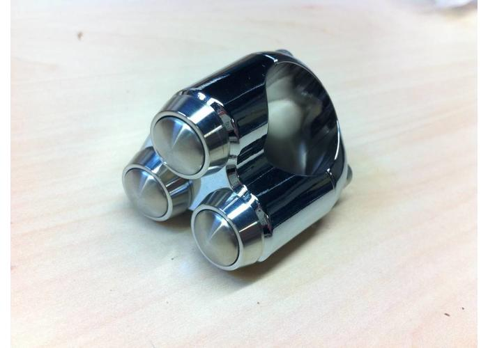 "Motone 3 Button Schakelaar 25.4MM of 1"" Chrome"