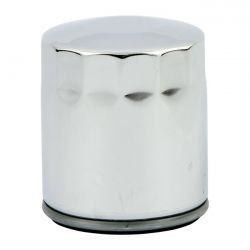 Chrome Harley 1999 FLST oil filter; 99-17 / TC17-20 M8