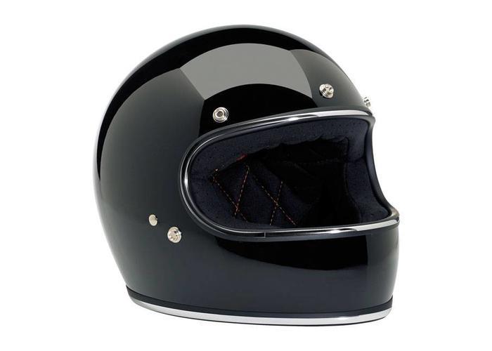 Biltwell Gringo Full Face Gloss Black W/ Chrome