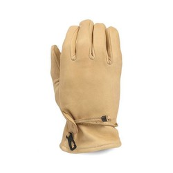 Gants en cuir beige old school
