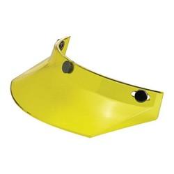 Visière de moto jaune