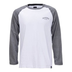Baseball-Shirt - Dunkel Grau Melange