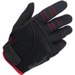 Moto Handschuhe - Schwarz / Rot