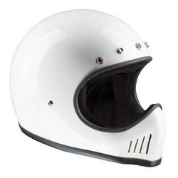 Historischer Motocross Helm WeiÌÙ