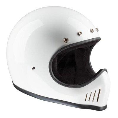 Bandit Historischer Motocross Helm WeiÌÙ