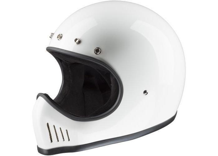 Bandit Historic Motocross Helm Wit
