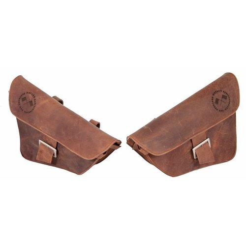 Saddle Bag / Scrambler Bag Bruin