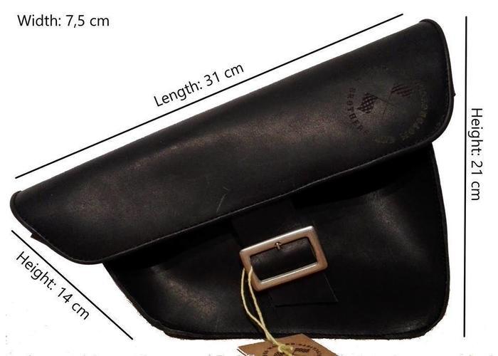 Zadeltas / scrambler tas Zwart
