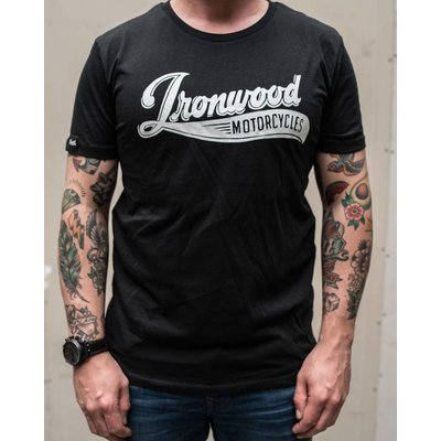 Ironwood Motorcycles Logo Tee Black - T-shirt