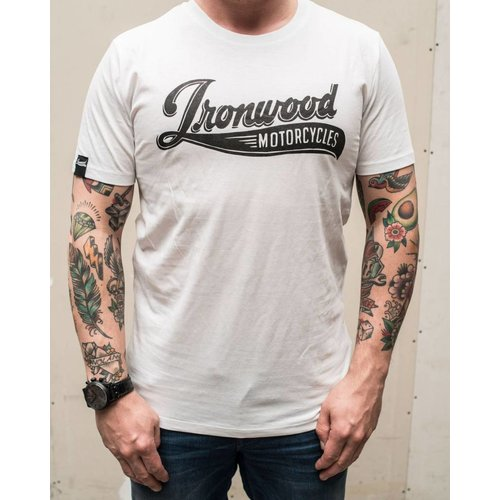 Ironwood Motorcycles Logo Tee Wit - T-shirt