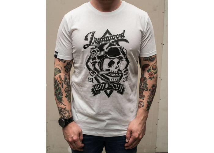 Ironwood Motorcycles Skull Tee Wit - T-shirt