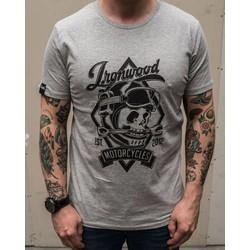 Schädel Tee Grau - T-shirt