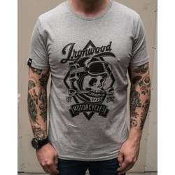 T-shirt Skull gris