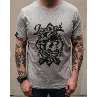 Ironwood Motorcycles Skull Tee Grey - T-shirt