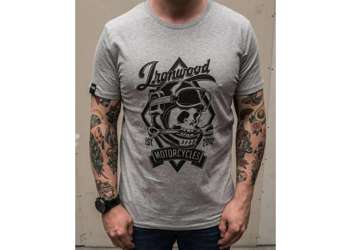 Ironwood Motorcycles Skull Tee Grijs - T-shirt