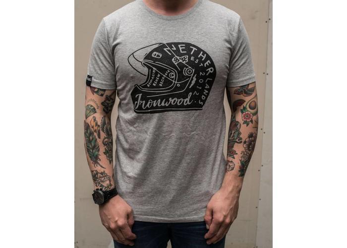 Ironwood Motorcycles Helmet Tee Grijs - T-shirt
