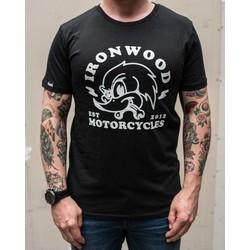 Woodpecker Tee Schwarz - T-shirt