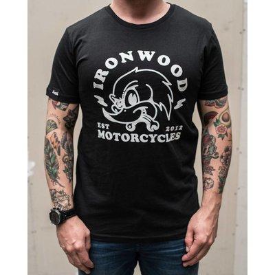 Ironwood Motorcycles Woodpecker Tee Schwartz - T-shirt