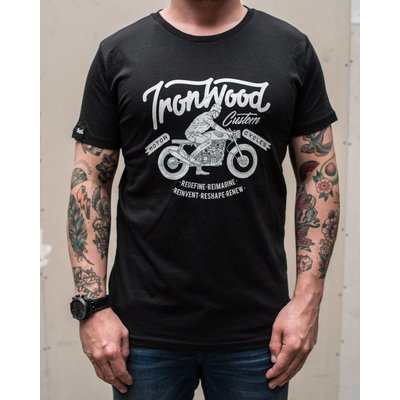 Ironwood Motorcycles Ride IWC Tee Zwart - T-shirt