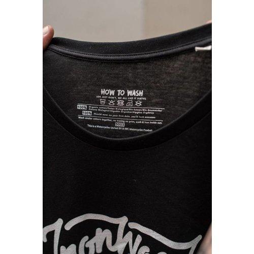 Ironwood Motorcycles Flying Skull Tee Zwart - T-shirt