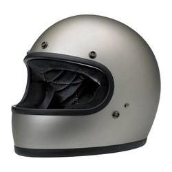 Gringo Full Face Helmet Flat Titanium