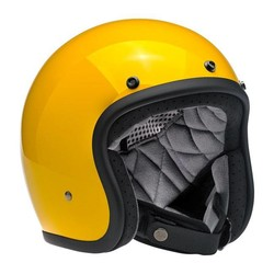 Bonanza 3/4 Open Face Helmet Safe-T Yellow