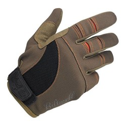 Gants de moto Biltwell brun/orange