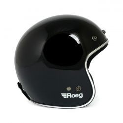 Jett helm glanzend zwart