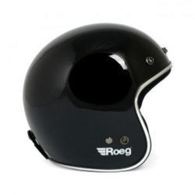 Roeg Jett helm glanzend zwart