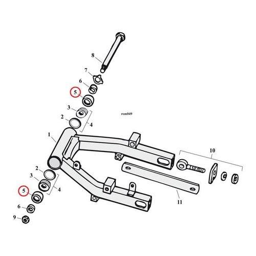 Joint James en caoutchouc pour roue/bras oscillant