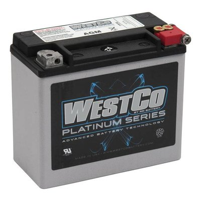 Westco 310CCA AGM Accu, 12V, 18AMP XL, VSRC, Softail, Buell, Dyna