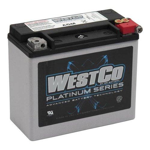 Westco 310CCA AGM Accu, 12V, 18AMP XL, VRSC, Softail, Buell, Dyna