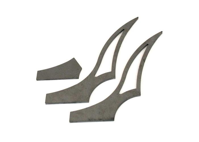 BK Products 320MM Medium Stiletto Strut Set Achterspatbord